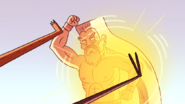 S4E13.274 Grand Master Blocking Mordecai and Rigby's Kick