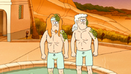 S6E15.117 Stan and Security Guy Sees Mordecai and CJ