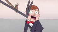 S7E09.094 Mordecai and Rigby Kicking Mr. Bossman's Face