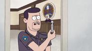 S7E09.161 Bailiff Holding a Dog Whistle