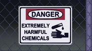 S7E31.112 Danger Extremely Harmful Chemicals Sign