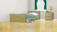 S7E03.053 Benson Hiding Under Mordecai's Bed