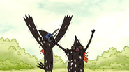S3E35.148 Mordecai and Rigby Hit by More Tomatoes 01