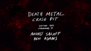 Death Metal Crash Pit Title