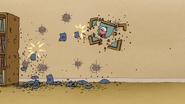S7E13.157 Beanbags Destroying a Photo of Benson
