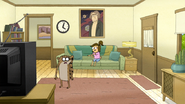 S6E07.044 Eileen Stopping Rigby from Touching the TV