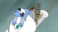 S7E05.380 Mordecai and Rigby Hit with Antidote Darts