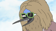 S7E01.114 Bum Mordecai Wearing Broken Sunglasses