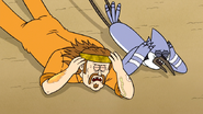S7E13.147 Mordecai and Harry Taking Cover
