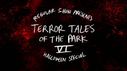 S8E19 Terror Tales of the Park VI Title Card