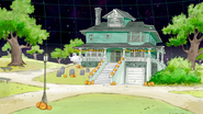 S8E19.003 Halloween Decorated House