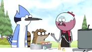 S7E19.077 Benson Telling Mordecai and Rigby Obtain Gene's Chili