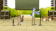 S5E12.251 Mordecai and Rigby Getting Ready to Sing