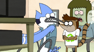 S7E20.042 Mordecai Confirming the Tape is Stuck