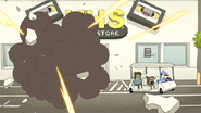 S7E20.138 VHS Store Wall Blowing Up