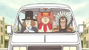 S5E12.157 The Thanksgiving Gang Driving Away