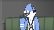 S6E20.165 Mordecai Pretending to Give a Report