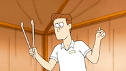 S6E15.087 Spa Worker Snapping His Fingers