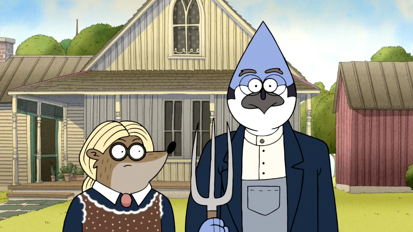 S6E21154 American Gothic Regular Show Style