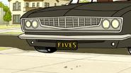 S6E02.048 FIVES License Plate