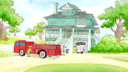 S6E23.020 Firefighers at the Garage Door Crash