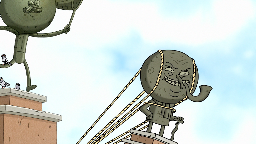 S8e27ep 038 Mr Maellard S Statue Going Up Png