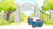 S6E12.179 Skips' Van Driving into the Park