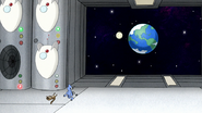 S8E01.097 Mordecai Looking at the Earth