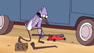 S7E36.201 Mordecai Fixing the Tire