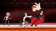 S4E20.256 Mordecai and Rigby Pushes Shinehara