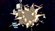 S8E01.181 Phone Satellite Exploding