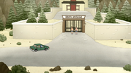 S4E13.098 Sensai Parking in Front of the DKD Dojo Gate