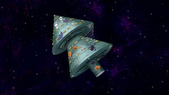 S8E19.001 Halloween Space Tree Station