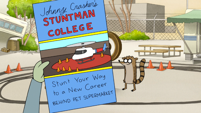 S5E13022 Johnny Crashers Stuntman College PamphletPNG
