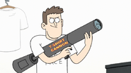 S7E29.069 Clerk with T-Shirt Cannon