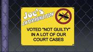 S7E31.113 Joe's Extermination Sign