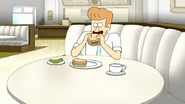 S7E33.011 Del Hanson Eating a Sandwich