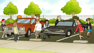 S6E02.099 The Students Moving Muscle Man's Truck