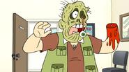 S7E17.080 Scabby Grossman Dressed as a Zombie