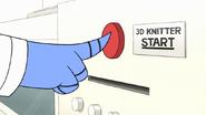 S7E29.111 Mordecai Starting the 3-D Knitter