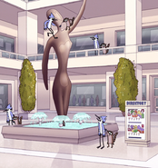 S8E23.356 Theoretical Mall Statue