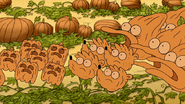 S5E08.092 Mordecai, Rigby, and Hi-Five Pumpkins