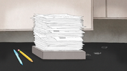 S7E25.058 Pile of Paperwork