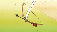 S7E29.199 Rigby Grabbing Muscle Man's Bow and Arrow