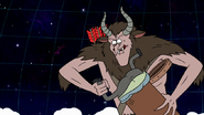 S8E23.493 Krampus Shoving Muscle Man into His Basket