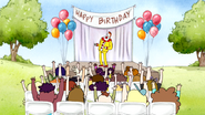 S4E16.199 Quips as a Clown at a Kids Birthday Party