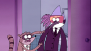 S5E14.065 Rigby Trying to Stop Mordecai
