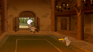 S6E12.147 Rigby Running Away with a Pizza Sub