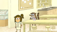 S7E06.068 Rigby and Eileen Watching Zaxon Connect the VCR