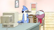 S5E21.21 Mordecai, Rigby, & Benson on the Computer